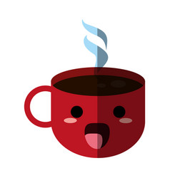 Kawaii coffee mug icon image vector
