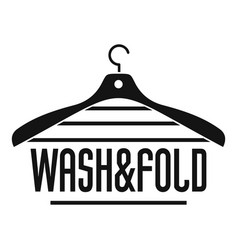 Laundry wash and fold hanger logo simple style vector