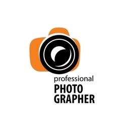 logo camera the photographer vector image