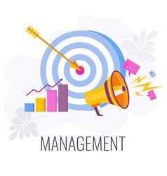 Management infographics pictogram flat vector