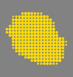 Map of la reunion vector