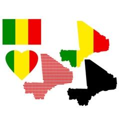 maps of Mali vector image