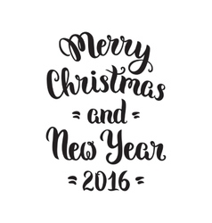 Merry Christmas lettering vector image