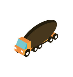 mixer truck transport vehicle isometric icon vector image
