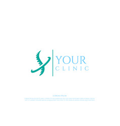 modern chiropractic spine surgery care logo design vector image
