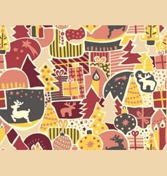 modern christmas seamless pattern women vector image