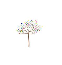 multicolor tree vector image