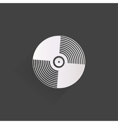 Music vinyl disk iconflat design vector image