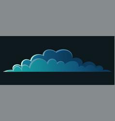 night cloud isolated on black dark blue cartoon vector image