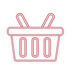 online shopping neon vector image