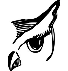 owl outlined head tattoo style for your project vector image