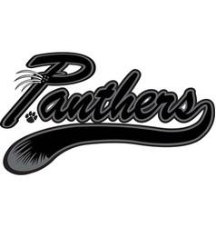 Panther logo mascot font vector