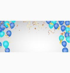 Party balloons happy birthday celebration vector