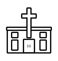 pictogram catholic church building design vector image