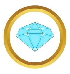 Polished diamond icon vector
