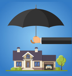 property protection concept vector image