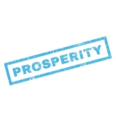 Prosperity rubber stamp vector
