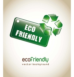 Recycling and environmental design elements vector