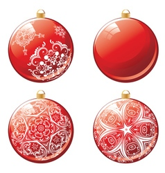 Red Xmas Ball Design vector image
