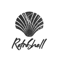 retro shell logo icon design template vector image