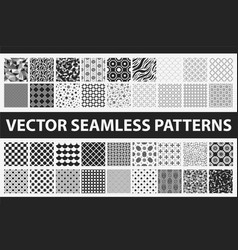 retro styled seamless pattern pack abstract vector image