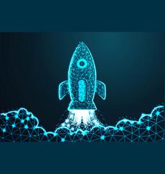 rocket launch business start up concept form vector image