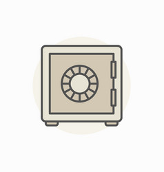 Safe colorful icon vector