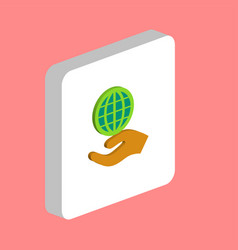 save earth computer symbol vector image