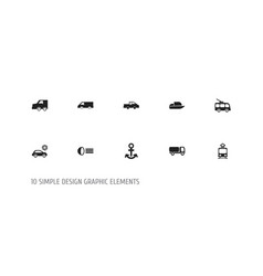 set of 10 editable shipment icons includes vector image