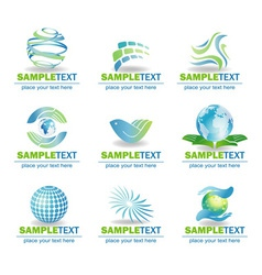 Set of eco design elements vector image