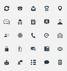 Set of simple connect icons vector