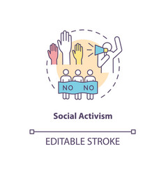 Social activism concept icon vector