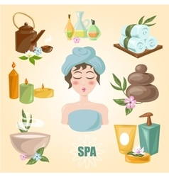 Spa emblems for beauty industry vector image