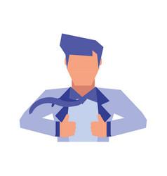 super hero avatar character vector image