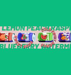 sweet soda cold fruit drinks banner vector image