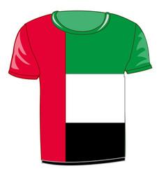 T-shirt flag oae vector