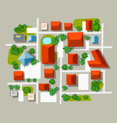 top view city of map vector image