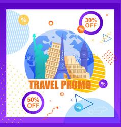 travel promo organizing tourist trip vector image
