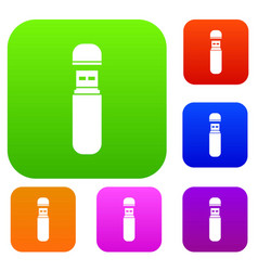 usb flash drive set collection vector image