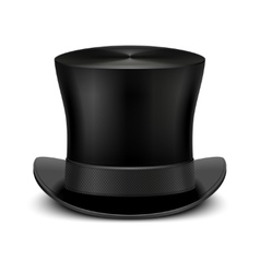 Vintage black gentleman top hat isolated on white vector image