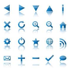 Web navigation icons isolaten on white background vector image