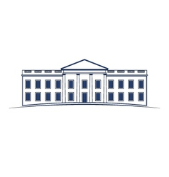 White House building icon vector image