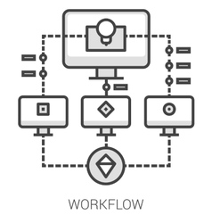 Workflow line infographic vector image