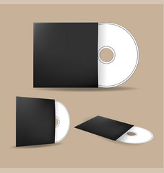 cd cover disk mock up template vector image