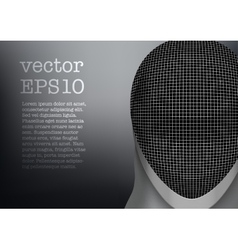 Fencing mask background vector image vector image