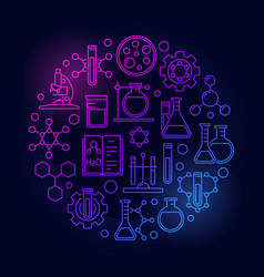science and chemistry colored symbol vector image vector image