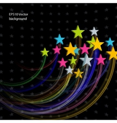 stars abstract background vector image vector image