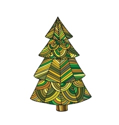 The image of a Christmas tree vector image