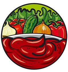 tomato sauce vector image vector image