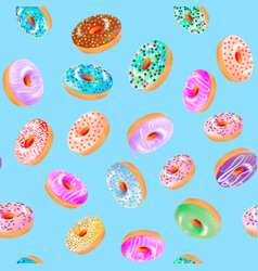a seamless background with donuts with a fruit vector image
